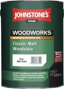 Johnstones Classic Matt Woodstain WALNUT (OŘECH) 5 l