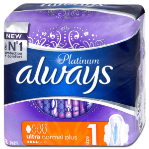 Always vložky Platinum Ultra Normal Plus, 8 ks