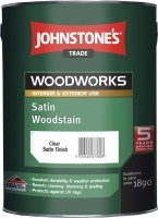 Johnstones Satin Woodstain- CLEAR 5 l